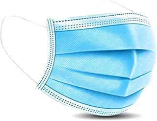 50 PCS Disposable Surgical Mask Protection Mask, face mouth Protector with Ear Loops, CE Certification, 3 PLY, Non-woven a...