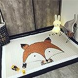 Zinsale Große Verdicken Baby Krabbeldecken Baumwolle Spielmatte Kindergarten Aktivität Pad Krabbelmatte (Fuchs)