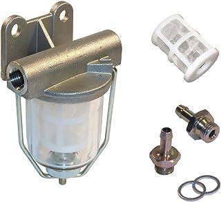 Kraftstoff Vorfilterset mit Schauglas, Ersatzfilter und Anschlussverschraubung 8 mm  PI8617/KT8