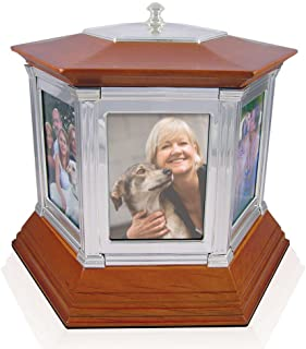 Perfect Memorials Large Rotating Memories Cremation Urn Up to 6 Pictures