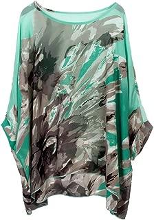 Women's Bohemian Style Summer Beach Lagenlook Top Kimono Loose Waterfall Chiffon Kaftan Poncho Shirt