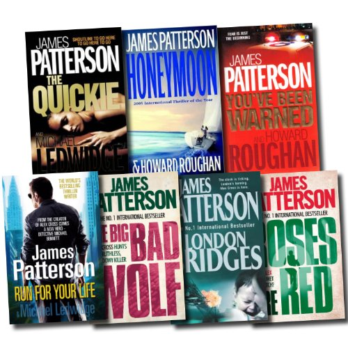Alex Cross Series Collection James Patterson 7 Books Set (London Bridges, Roses are Red, The Big and Bad Wolf, Run for Your Life, Honeymoon, The Quickie, You've been Warned)