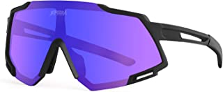 TOPTETN Polarized Sports Sunglasses for Men Women, Bike Glasses Bicycle Sunglasses for Driving Cycling Running Fishing Gol...