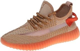 JJHAEVDY Women's Fluorescence Sneakers Mesh Breathable Super Lightweight Sneakers Non-Slip Night Running Sneakers