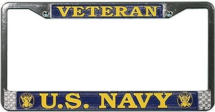 United States Navy veteran metal license plate frame