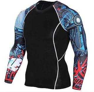 Black Compression Top Mens Long Sleeve Running Shirt
