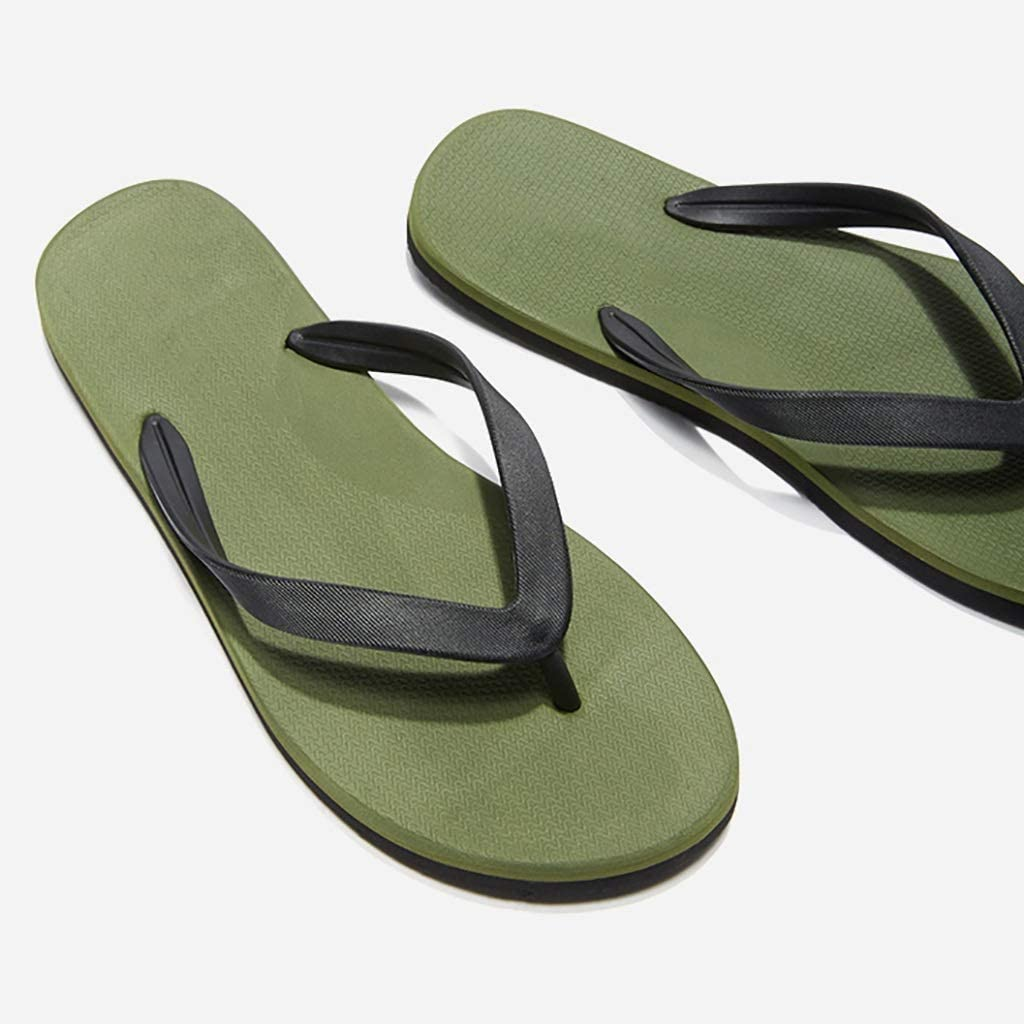 S&W Manufacturing Men's Flip-Flops, PVC Material, Delicate and Lightweight, Comfortable with The Bottom, Walking Freely (Color : Green, Size : 39)