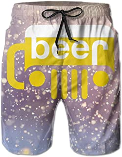 Hdecrr FFRE Beer Jeep Funny Drinking Off-Road Party Alcohol Men Summer Casual Swim Trunks Shorts Quick Dry Beach Shorts with Pockets