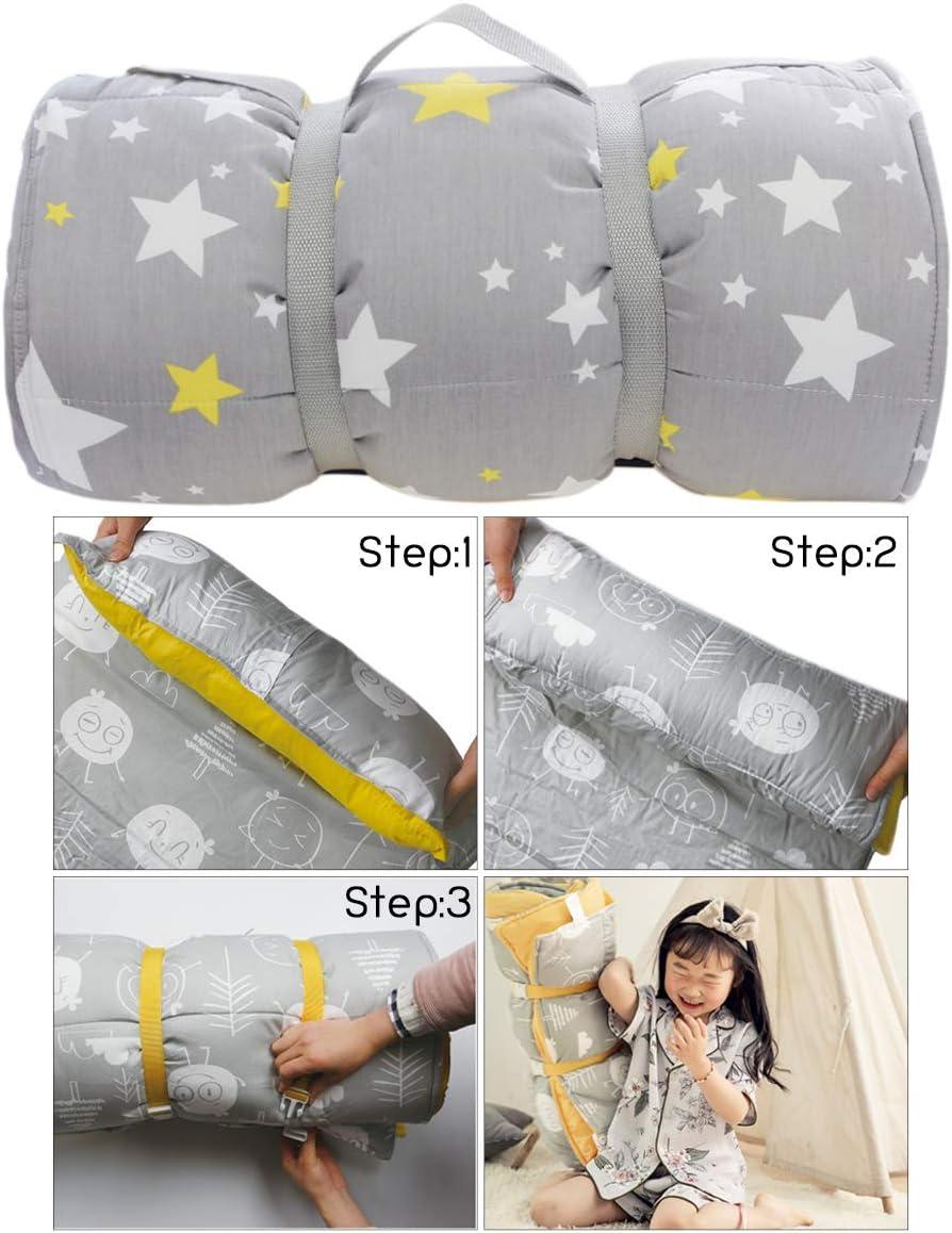Tapis de sieste pour enfant avec oreiller et couverture Sac de couchage pliable pour garçons et filles Étoile