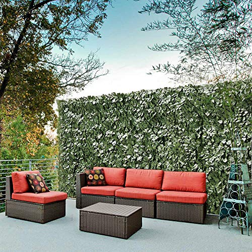 LeeMas Inc co 59'x196' Faux Ivy Leaf Fence Screen Artificial Hedge 90% Privacy w/Mesh for Exterior Interior Outdoor Backyard Patio