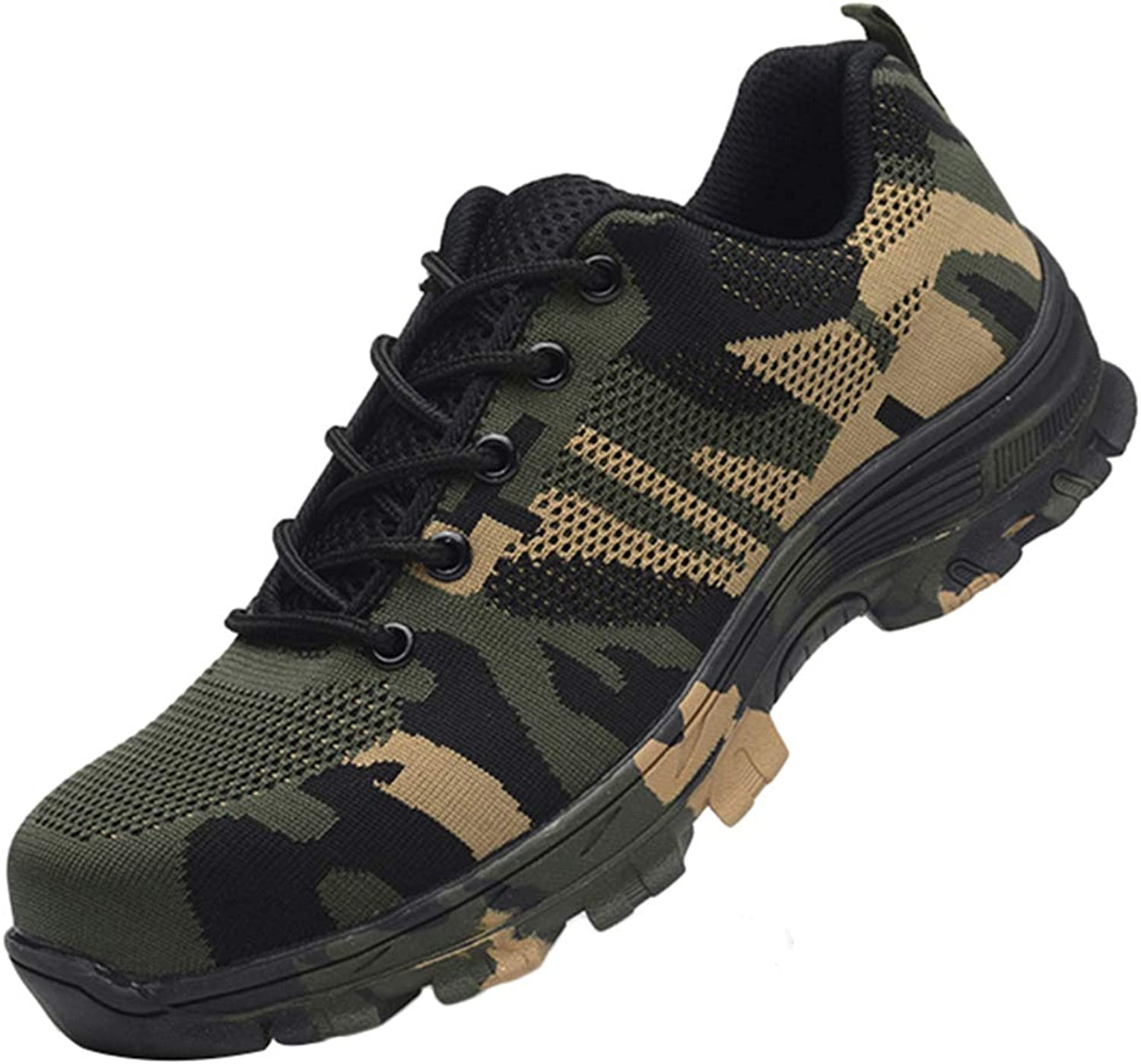 WZSSSS Work Safety shoes, Steel Toe Puncture Proof Boots Comfortable Industrial & Construction shoes for Men and Women