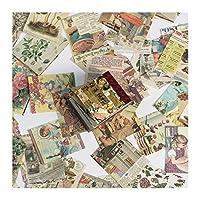 MAODING 400ピーススカイミニブック素材紙日記プランナークラフト紙スクラップブックレトロな装飾クラフトフォトアルバム (Color : A)