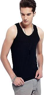Letuwj Mens Sleeveless Tank Top Slim Fit Racer Back Coton