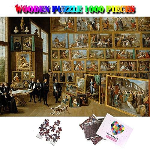 BBSJX Galería en Bruselas Madera 1000 Piezas, Rompecabezas para Adultos Pintura de fama Mundial Rompecabezas 1000 Piezas, Rompecabezas de Juguete para niños