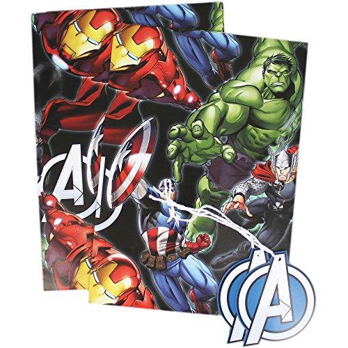 2Bögen Geschenkpapier und 2Geschenkanhänger im Avengers-Design