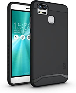 TUDIA ZenFone 3 Zoom Case, Slim-Fit Heavy Duty [Merge] Extreme Protection/Rugged but Slim Dual Layer Case for Asus ZenFone 3 Zoom (ZE553KL) (Matte Black)
