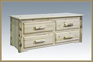 Montana Woodworks Montana Collection 4-Drawer Sitting Chest, Clear Lacquer Finish