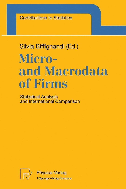 競合他社選手少ないガードMicro- and Macrodata of Firms: Statistical Analysis and International Comparison (Contributions to Statistics)