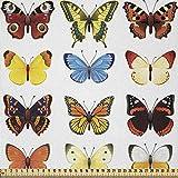 ABAKUHAUS Tiere Stoff als Meterware, Schmetterlinge viele