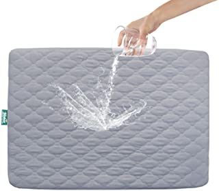 """Pack n Play Mattress Protector Waterproof, Premium Quilted Playard Sheet Cover 39"""" X 27"""" fits for Baby Foldable and Playar..."""