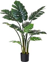 Fopamtri Artificial Monstera Deliciosa Plant 43 Inch Fake Tropical Palm Tree Perfect Faux..