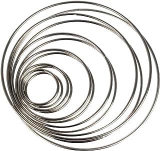 FOROREH 12 metallringar för drömfångare, trådringar hantverk hjul drömfångare ringar 38/50/75/100/130/150 mm för drömfånga...