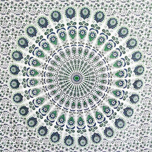 MOMOMUS Tapiz Mandala - 100% Algodón, Grande, Multiuso - Tapices de Pared...