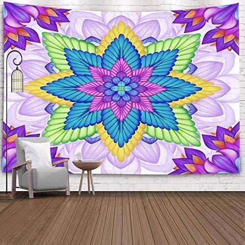 Tapiz Art Paño para colgar en la pared Impresión HD Cocina Dormitorio Sala de estar Decoración,Decoración decorativa Decoración de arte para el hogar Caleidoscopio floral abstracto Patrón étni