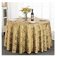 WZHONG テーブルクロスホテルラウンドテーブルクロスホームリビングルームコーヒーテーブルテーブルクロスアンチリンクルパターンの色のテーブルクロス (Color : Red, Size : 3m)