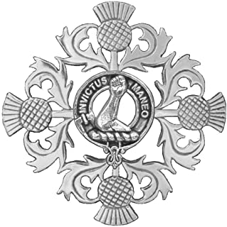 Armstrong Clan Crest Scottish Thistle Brooch