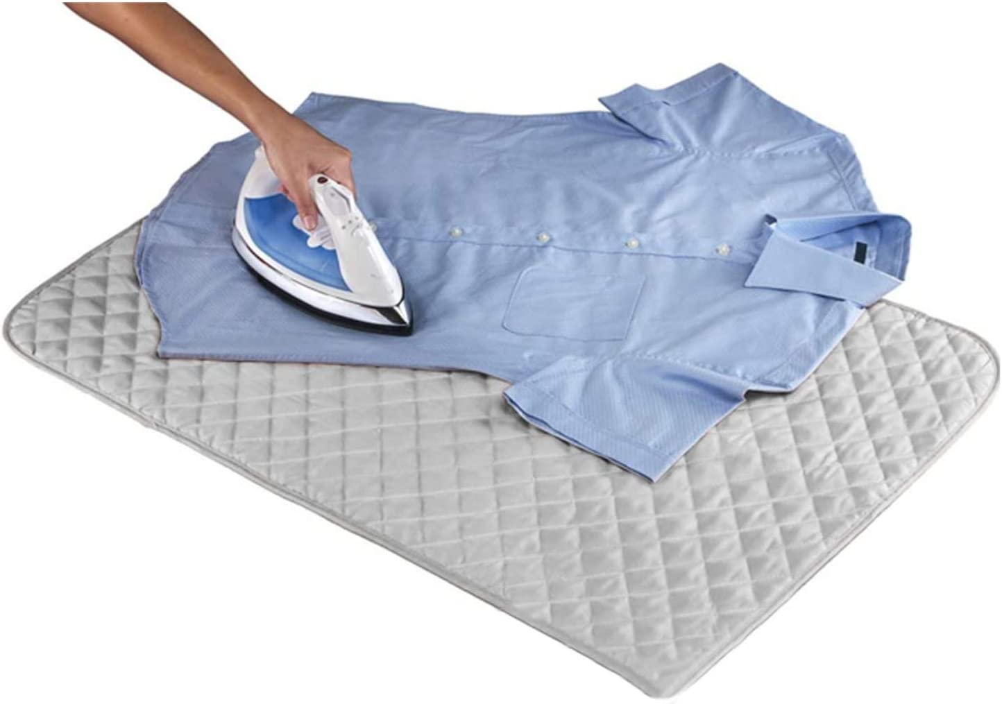 Easy To Fit Thick Double Layer Backing With Heat Reflective Properties To Help Make Ironing Easier Elasticated Ironing Board Covers Grey Squares - Elasticated - 120 x 40cm Cover