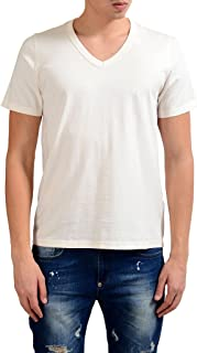 Maison Martin Margiela 10 Men's Deep V-Neck White T-Shirt