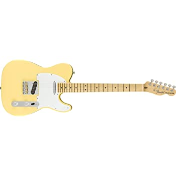 Fender American Performer Telecaster Electric Guitar (Vintage White, Maple Fingerboard)