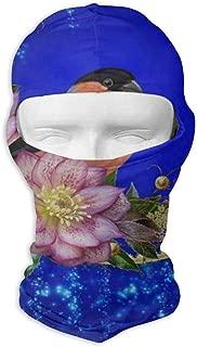 IDO Winter Christmas Floral Bird Full Face Masks UV Balaclava Hood Ski Headcover Motorcycle Neck Warmer Tactical Hood for Cycling Outdoor Sports Hiking