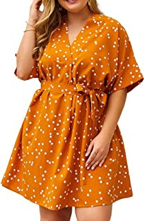 RkYAO Women's Polka Dots Sexy Oversized Empire Waist Casual Dress