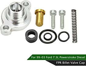 Fuel Pressure Regulator Billet Valve Cap Kit, Compatible with Ford 7.3L Powerstroke Diesel