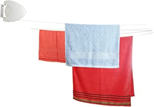 con 24/ganci resistenti intimo calze essiccazione gancio per vestiti e Intimates Blue chiodi Pieghevole forma rotonda clip e goccia Clothesline stendibiancheria