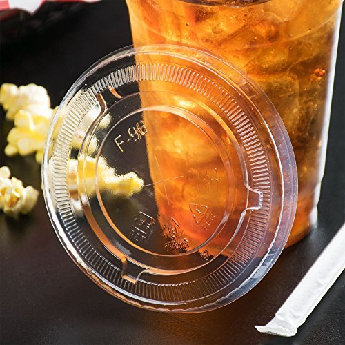 Premium Quality 16 Oz Clear Plastic Cups By Kozypak – Strong, Durable Cups 100-Pcs Set With Lids – Ideal For Coffee, Alcohol, Soda, Water & Other – Suitable For Home & Professional Use