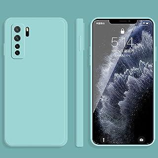 携帯電話ソフトケース for Huawei Nova 7 SEソリッドカラー模造液シリコーンストレートエッジ落下防止全被覆保護ケース 電話カバー