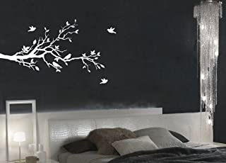 white tree stencil for wall