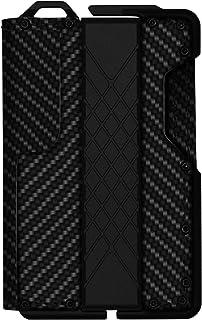 Dapper Leather Bifold Wallet – Genuine Tactical Wallet – Minimalist Card Wallet for Men – RFID-Blocking Aluminum Metal Slim Wallet (Carbon fiber pattern)