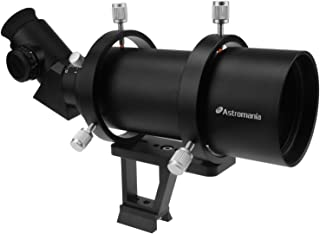 Astromania 10x60 Finder Scope + Guide Scope 45° Angled with Illuminated Reticle Eyepiece - Used as a high-end Finderscope, Guide Telescope, Spotting Scope, or Small Travel Companion Astro-Telescope