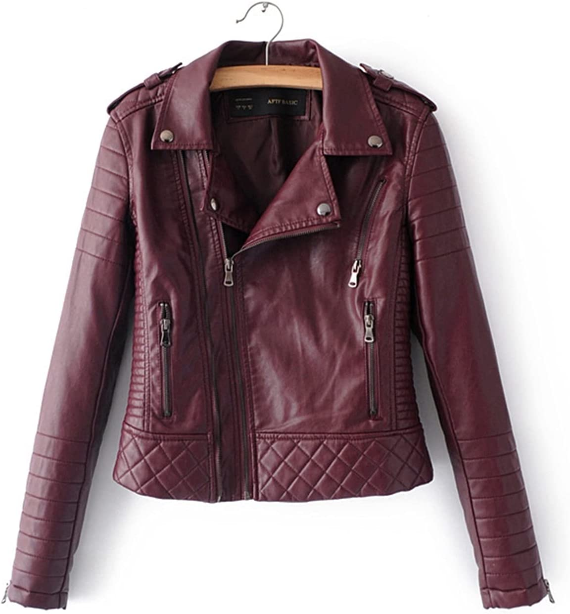 Women Houston Mall Minneapolis Mall Spring Autumn Faux Leather Jackets Zipper B Lady Motorcyle