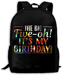 LIMING Unisex Adult Backpack Oh It's My Birthday Bookbag Travel Bag Schoolbags Laptop Bag For Men And Women