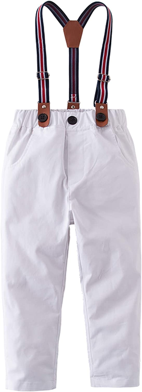 StylesILove Toddler Little Boy Classic Chino Pants with Suspenders for Casual, Formal Wear and Special Occasions