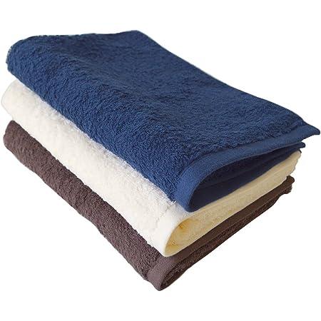 TRANPARAN 今治タオル 認定 ライフタオル コンパクトバスタオル 3枚セット 日本製 速乾 (3カラー)