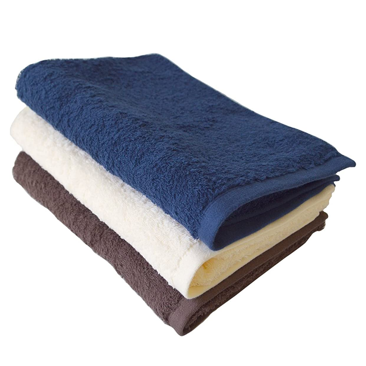 銀行ビジネスバルブTRANPARAN 今治タオル 認定 ライフタオル コンパクトバスタオル 3枚セット 日本製 速乾 (3カラー)