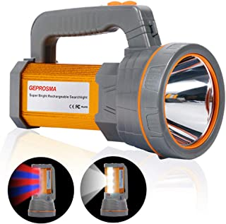 Super Bright Handheld Searchlight USB Rechargeable Large 4 Batteries 10000mah Powerful..