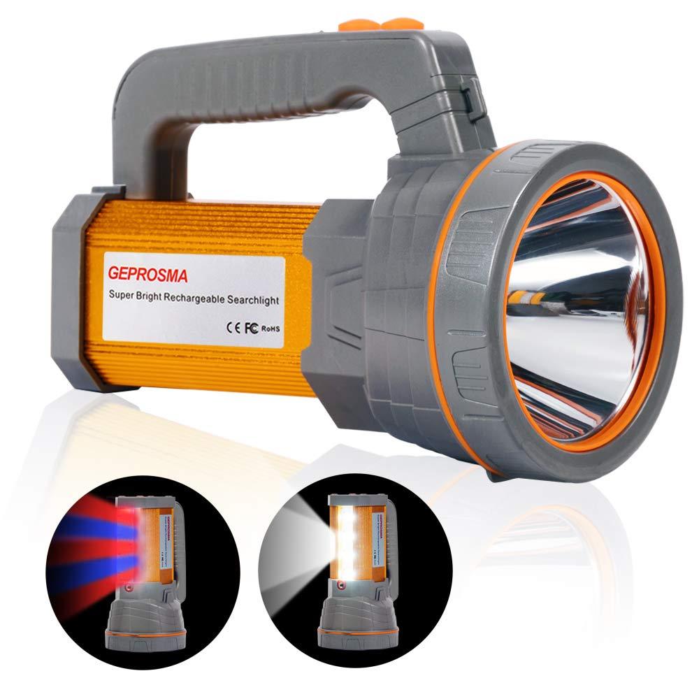 Rechargeable Spotlight Flashlight Searchlight Waterproof