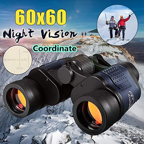 GKD Telescopio Óptico 60X60 Prismáticos De Visión Nocturna De Alta Claridad 3000M Telescopio Binocular Deportes Al Aire Libre del Ocular